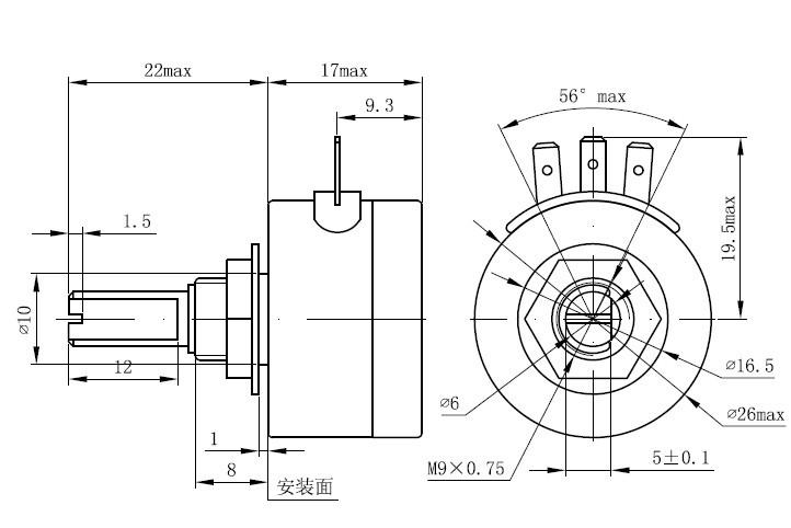 导塑传感器WDJ25电位器